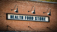 Street Sign HEALTH FOOD STORE