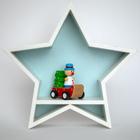 Christmas decoration white star with funny figure inside