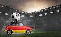 Germany car on football stadium