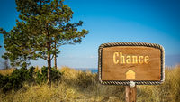 Street Sign to Chance