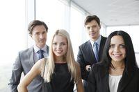 Happy business team portrait