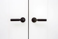 White closet doors wood closeup background texture modern design