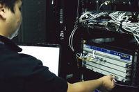 The system administrator is debugging server hardware.