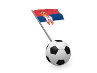 Soccer ball with the flag of Serbia