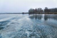 Skating on a lake