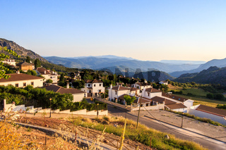 Early morning view over Benaocaz