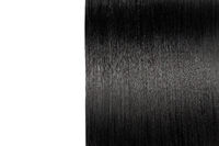 Closeup on luxurious straight glossy black hair