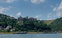 Ruin castle called Rheinfels in Germany