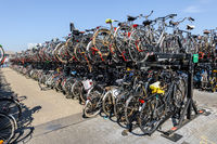 Massive bicycle parking at back part of Amsterdam Central station