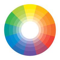 Multicolor Spectral Rainbow Circle of 12 segments. Spectral harmonic pattern set.