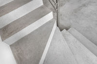 Grey microcement stairs