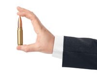 Hand with bullet