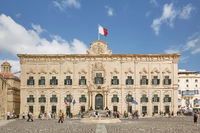 Office of the prime minister of Malta, former building of The Auberge de Castille in Valleta, Malta