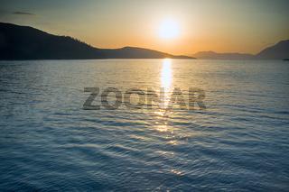 Evening Aegean sea, sea sunset