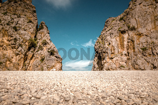Schlucht im Nordgebirge von Mallorca / Sa Calobra