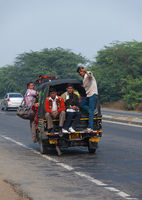 The people of India go by transport