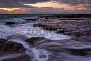 Early morning on the rocky coast of Coalcliff