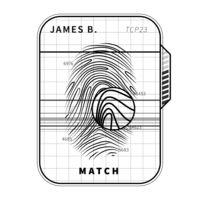 Fingerprint scan, simple black concept isolated on white
