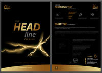 Black Flyer Template with Golden Strip and Fissure