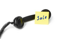 Vintage telephone and paper Sale