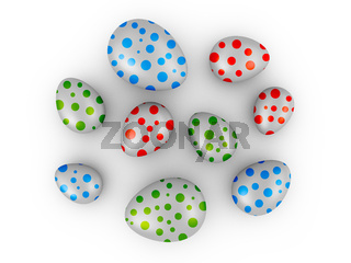 Eggs with colored dots