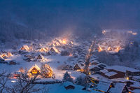 Shirakawago light-up Japan
