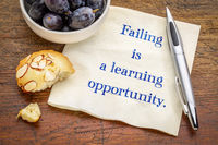 Failing is a learning opportunity