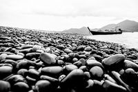 Ko Hin Ngam island in black and white color, Thailand