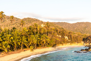 A typical view in Tayrona National Park Colombia