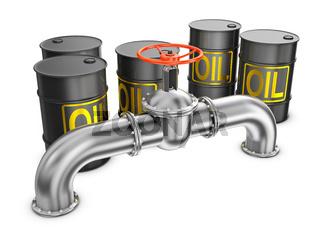 valve and a barrel