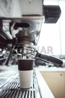 Photo paper cup for coffee and coffee machines