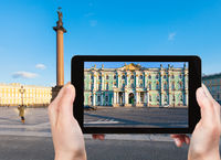 front view of Winter Palace in Saint Petersburg
