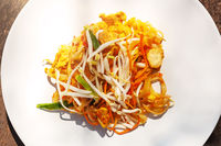Traditional thai cuisine, pad thai.