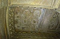 Aksumitisches Flachrelief aus Stein,Felsenkirche Medhane Alem of Adi Kasho,Äthiopien