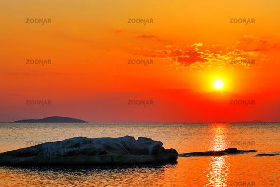 Sonnenuntergang am Malawisee, Cape Mc Clear, Malawi | Sunset at Lake Malawi, Cape Mc Clear, Malawi