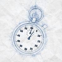 ballpoint pen doodle stopwatch