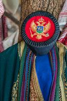 Closeup of a traditional Balkan folk costume