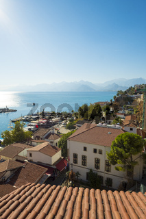 Old Town View Across Bay Mountains Antalya V