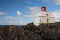Amphitrite Point Lighthouse near Uclulelet, Vancouver island, British Columbia Canada