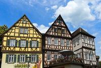 Historische Fachwerkhäuser im Stadtteil Im Weiler