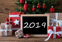 Colorful Christmas Tree, Text 2019, GIfts And Presents