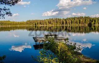 Ein herrlicher Sommertag am Yxtjärn in Schweden