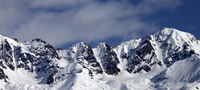 Winter mountains at nice sunny day