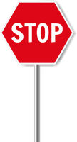 Red Stop SignIsolated White Background