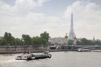 Paris view - Alexander the third bridge over river Seine