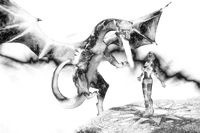 3d Illustration of a Fantasy Dragon