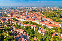 Zagreb historic upper town aerial view