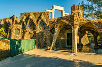Guell Crypt Exterior, Catalunya, Spain
