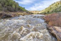 Colorado River rapid aerial view
