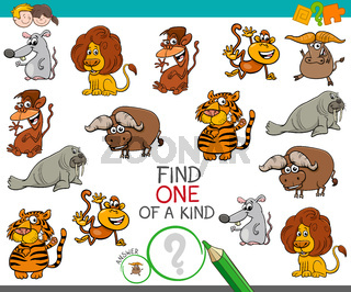 one of a kind game with wild animal characters
